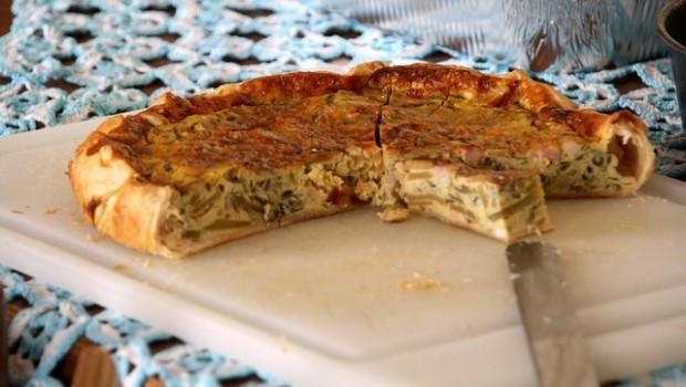 La torta salata alla robiola e zucchine per il picnic al mare