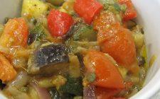 La ricetta della caponata di verdure al forno in versione light