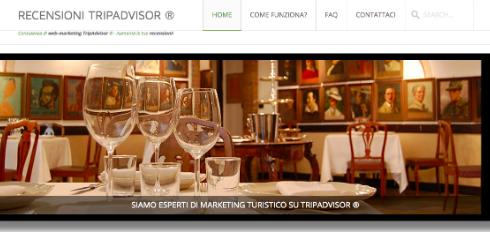 Tripadvisor, un servizio per aver recensioni positive