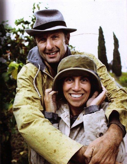 Giovanna Tiezzi con il marito Stefano
