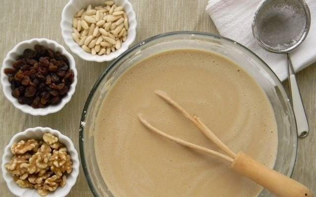 Ingredienti per il castagnaccio