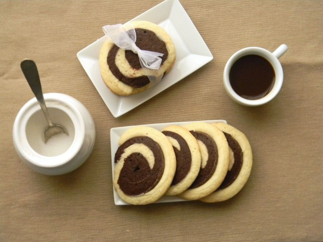 Presentazione biscotti bicolore