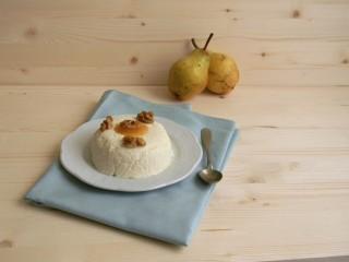 Mousse di formaggio e pere