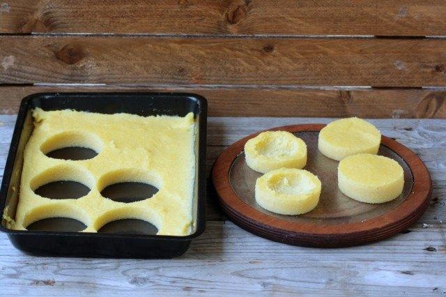 Step 2 cestini di polenta