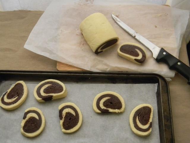 Il taglio dei biscotti bicolore