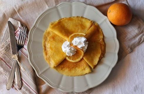 Crêpes all'arancia senza glutine