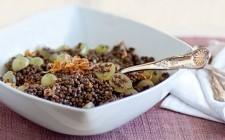Insalata di lenticchie e uva