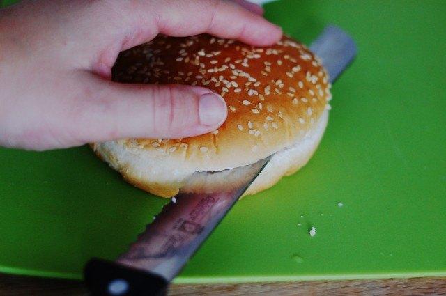 Taglio del panino, Hamburger fatto in casa