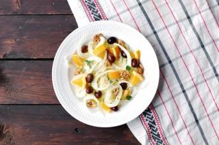 Insalata di finocchi e olive taggiasche