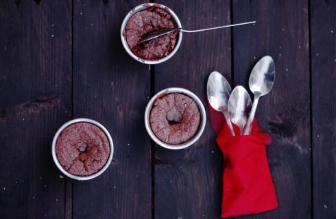 Tortini al cioccolato fondente