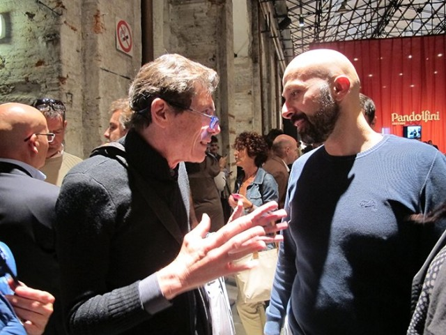 Il nuovo trestelle Niko Romito e il critico Luigi Cremona