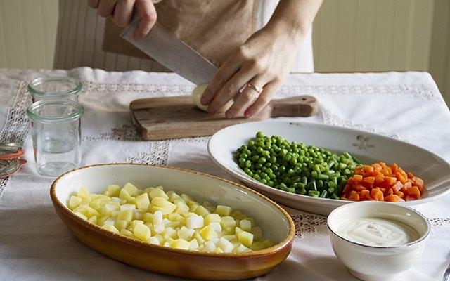 Gli ortaggi dell'insalata russa