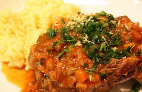 Il risotto con l'ossobuco con la ricetta milanese