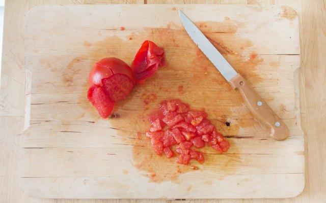 Preparazione della salsa rossa