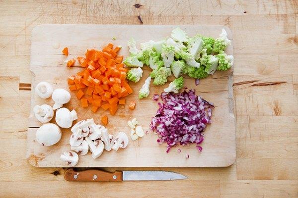 Taglio delle verdure
