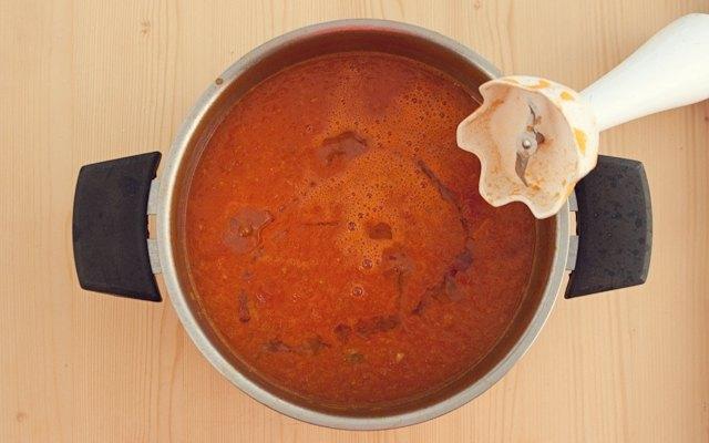 Frullare la zuppa