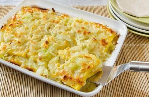 Lasagna di polenta con verza