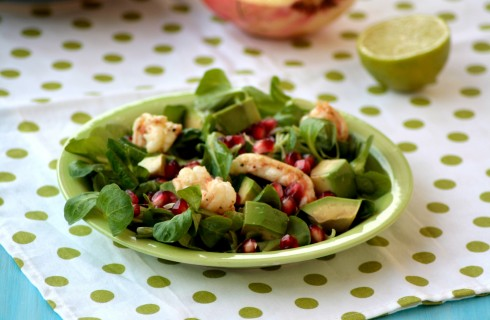 Insalata di scampi e avocado