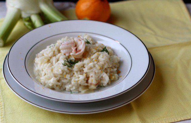 Il risotto scampi e arancia