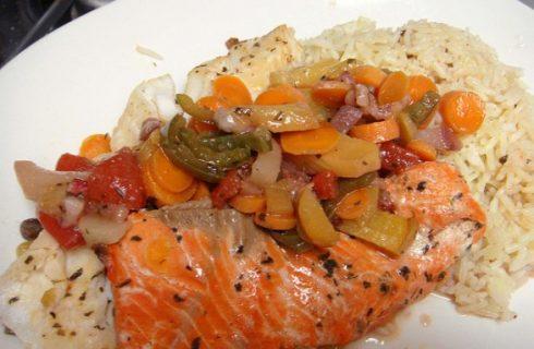 La ricetta del riso pilaf con pesce e verdure per un primo piatto gustoso