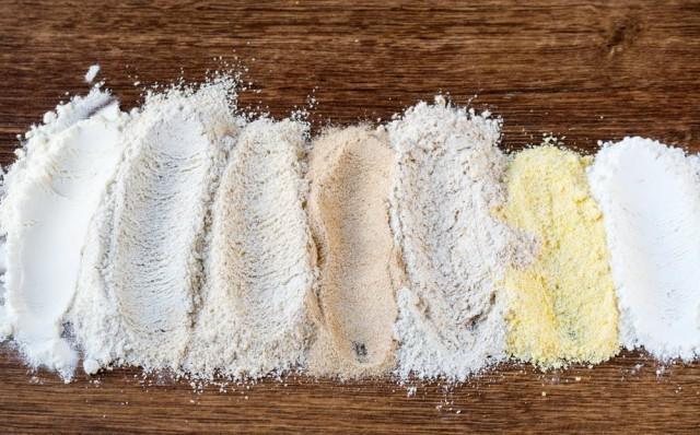 Diverse tipologie di farina