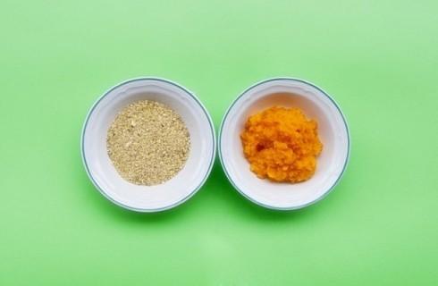 La purea di zucca e il pistacchio tritato