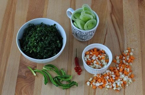 Gli ortaggi necessari alla preparazione della farinata