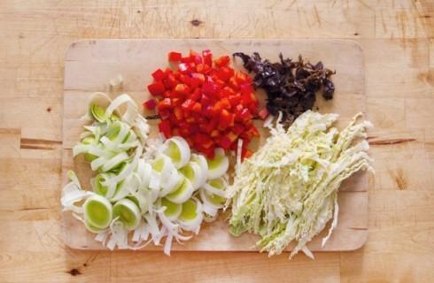 Le verdure da saltare nel wok