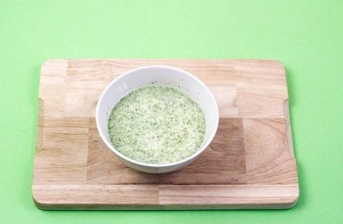 Il composto di broccoli e panna