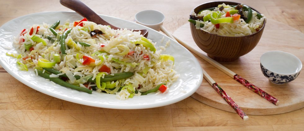 Riso con verdure saltare sapori dalla cina agrodolce for Piatto tipico cinese