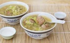 Polpette in zuppa: una goduria.