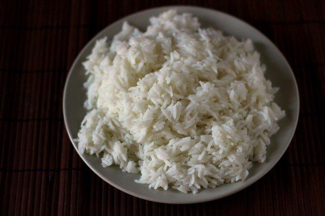 Il riso basmati bollito