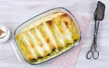Provate anche i cannelloni vegetariani con gli spinaci.