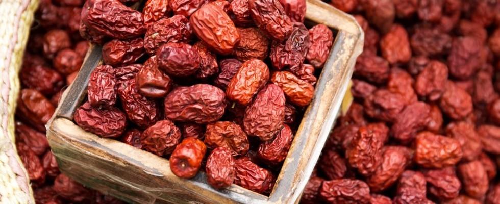 Dolcezze orientali: datteri rossi e bacche goji