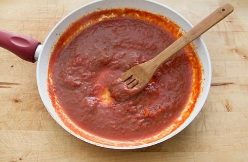 La salsa della carne alla pizzaiola