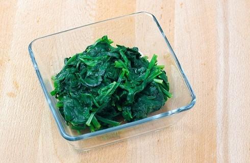 gli spinaci cotti
