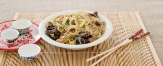 Spaghetti di soia con maiale