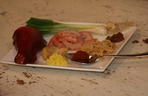 Gli ingredienti della zuppa thailandese
