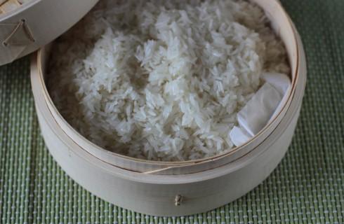 Il riso cotto a vapore