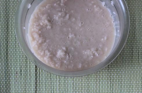 Il riso con il latte di cocco