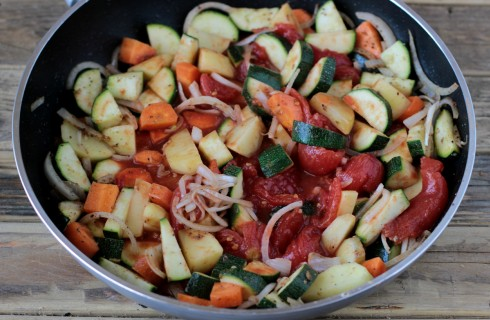 Le verdure del curry indiano