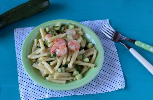 Casarecce con zucchine e gamberetti