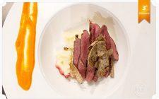 La ricetta del cuore di vitella con salsa al caffè e habanero con purè di patate e tartufo estivo