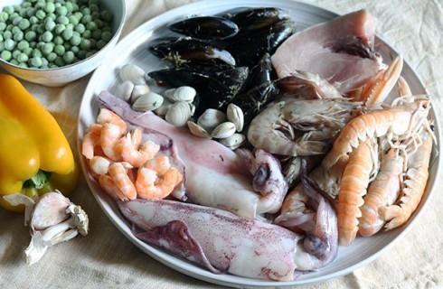 i pesci della paella
