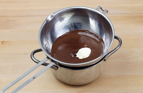 Il cioccolato fuso con il burro