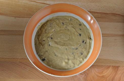 L'impasto dei muffin alla banana