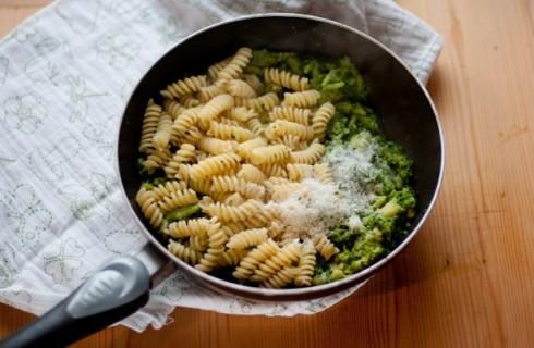 La mantecatura della pasta con i broccoli