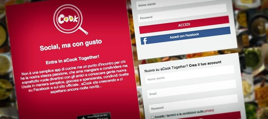 "aCook Together: l'app del cuoco ""fai dai te"""