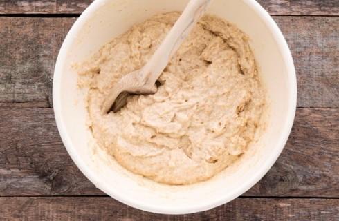 L'impasto dei muffin allo yogurt