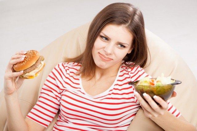 Ragazza a dieta